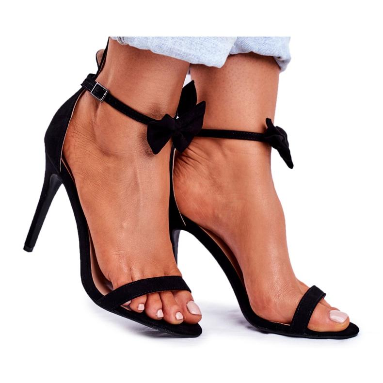 SEA Women's Sandals On High Heel Bunny Ears Black Honey Bunny