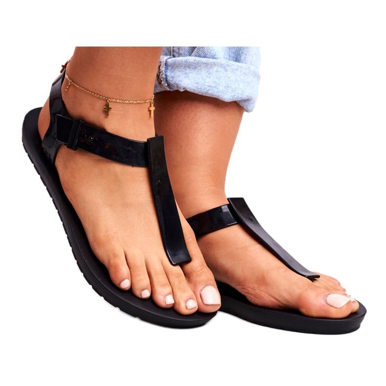 ZAXY Black Fragrant Rubber Sandals DD285039