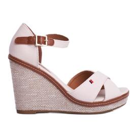 SEA Beige LaMane Women's Wedge Sandals