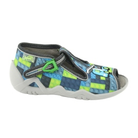Befado children's shoes 217P104 blue grey green