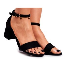 BUGO Women's Suede Black Sandals Oh Baby!