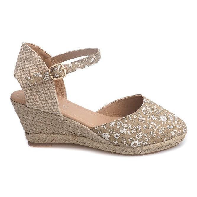 Wedge Sandals 50427 Beige