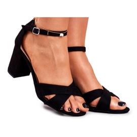 BUGO Women's Sandals Suede Black Lady Million