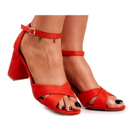 BUGO Women's Sandals Suede Orange Lady Million