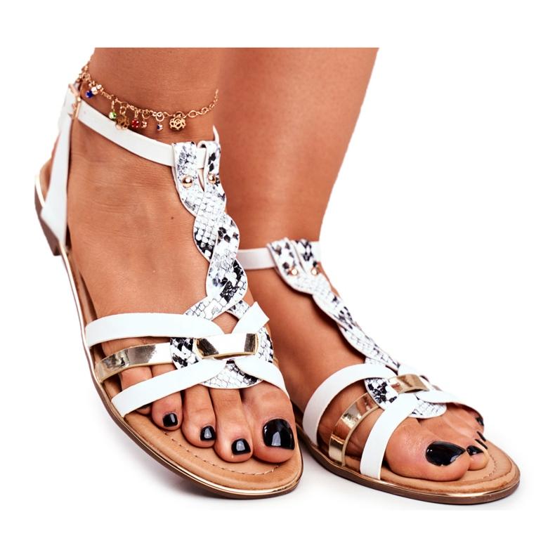 SEA Women's Sandals Elegant White Snake Brooke