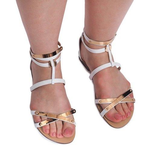 Lacquered Sandals Sheet E-103 White