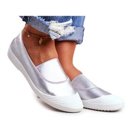 LU BOO Sneakers Slip On Slip-on Sneakers Silver Justy grey
