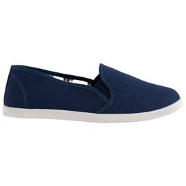 SHELOVET Comfortable Slip-On Sneakers blue