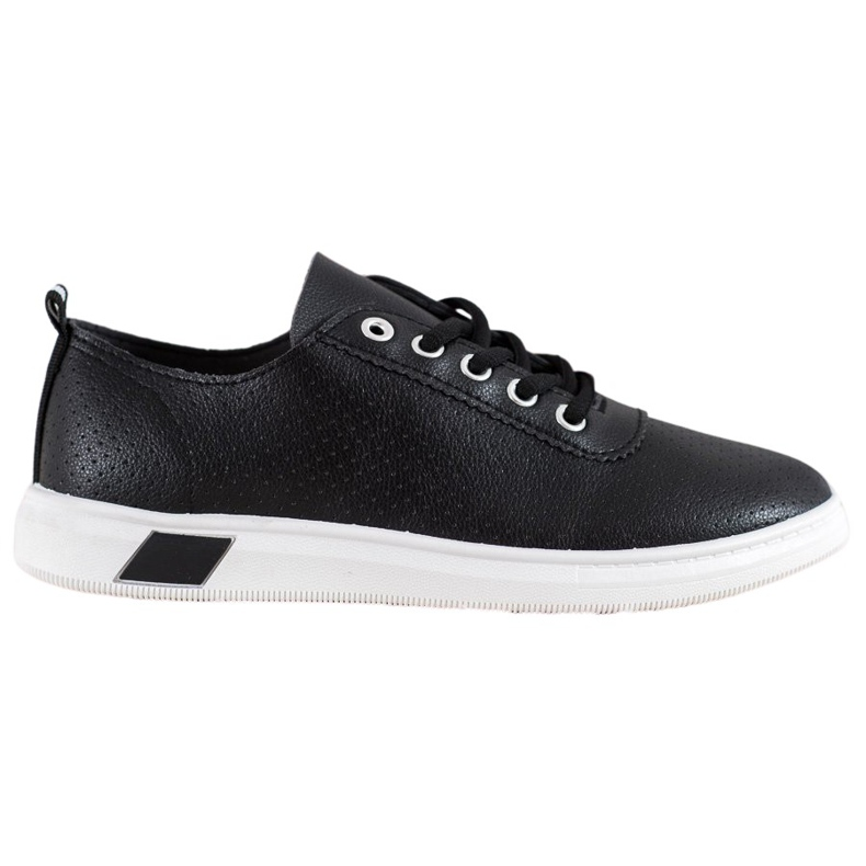 SHELOVET Openwork Sneakers With Eco Leather black