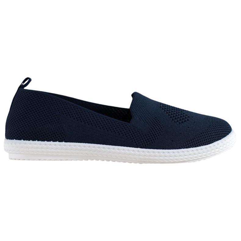 Via Giulia  Navy blue openwork sneakers