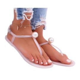 LU BOO Women's Meliski Sandals with Pearl Pink Contiro