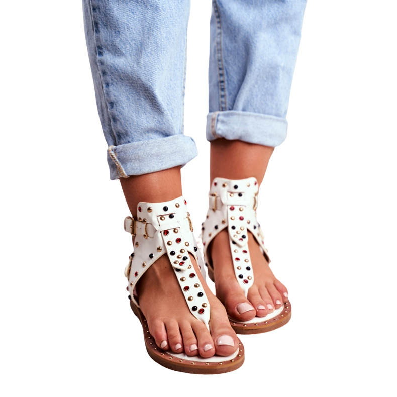 Lu Boo Sandals Flip-flops With Jets Gladiator Ashley White