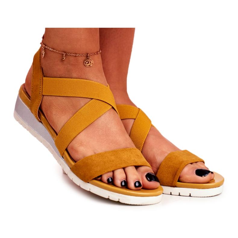 SEA Women's Sandals On Wedge Yellow Slip-on Harper