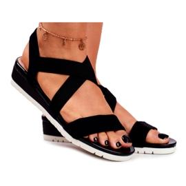 SEA Women's Sandals On Wedge Black Slip-on Harper