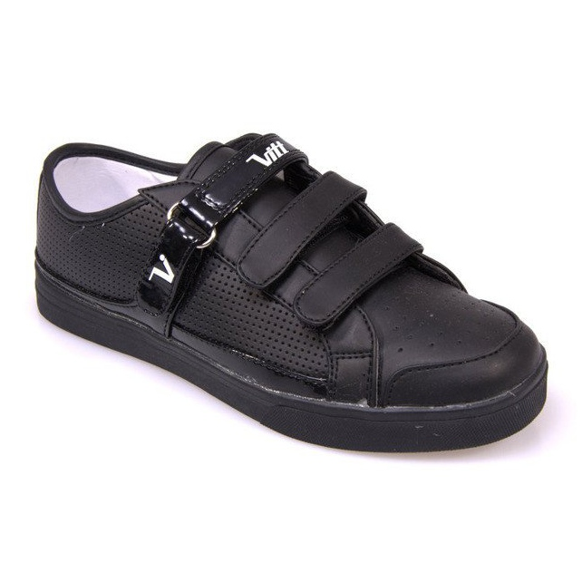 Sneakers With Velcro F-1-02 Black