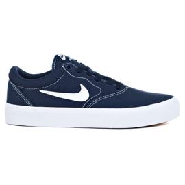 Nike Sb Charge Cnvs Jr CQ0260-400 shoes navy blue grey