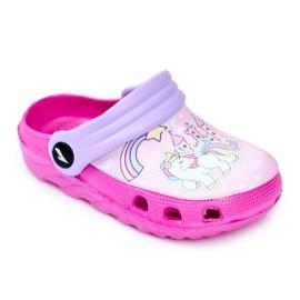 Children's Slippers Foam Crocs Pink Ponies Pony