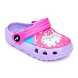Children's Slippers Foam Crocs Violet Ponies Pony