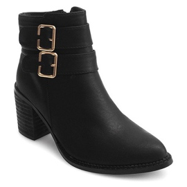 Boots On Heel F026 Black