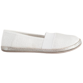 SHELOVET Stylish Slip-On Sneakers white