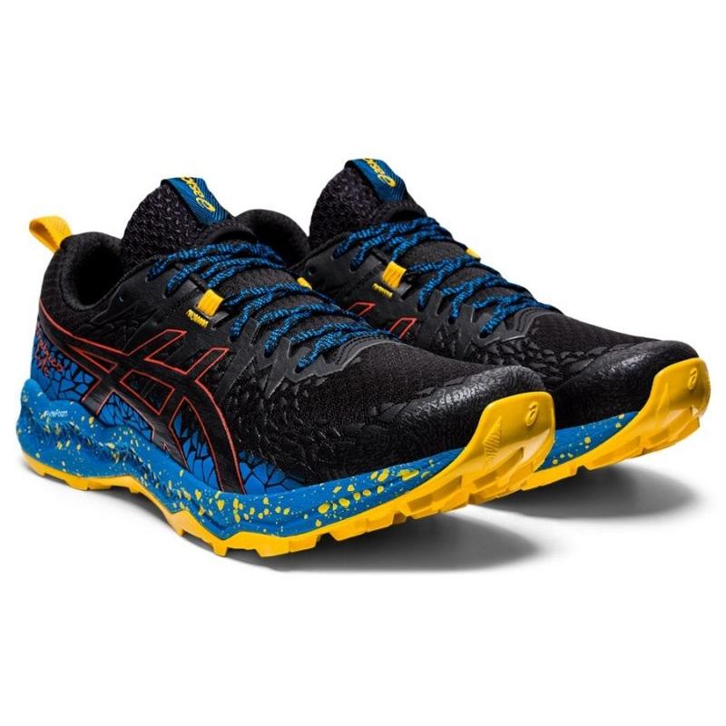 Asics running shoes FujiTrabuco Lyte M 1011A700-002 blue multicolored