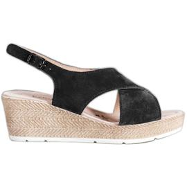 Filippo Light Leather Sandals black