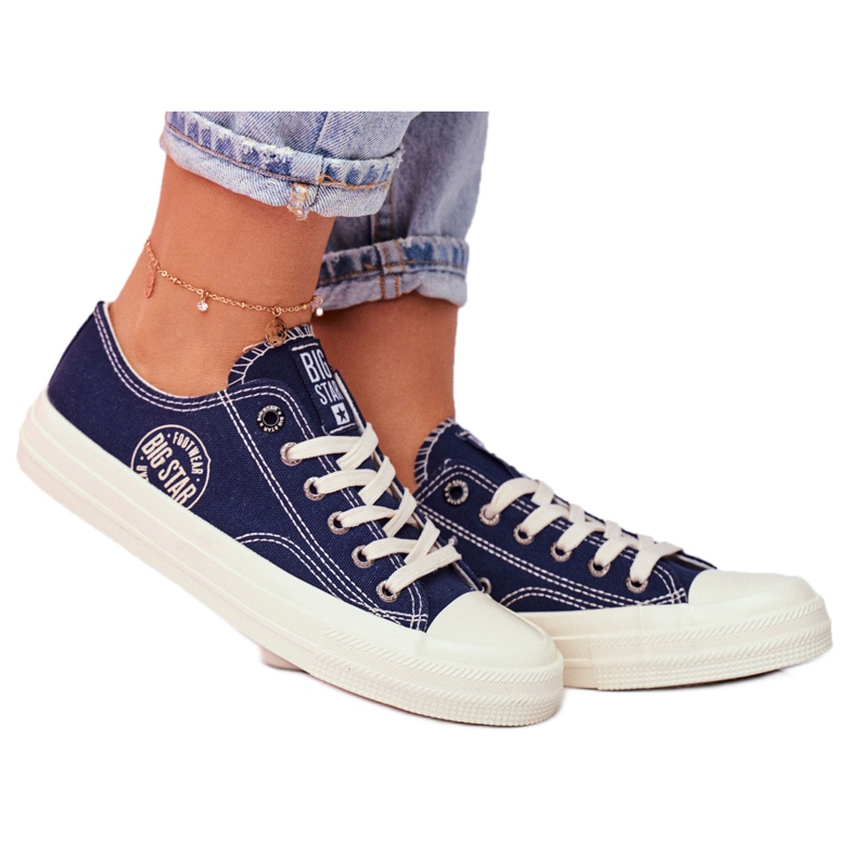 Women's Sneakers Big Star Navy Blue FF274125 multicolored