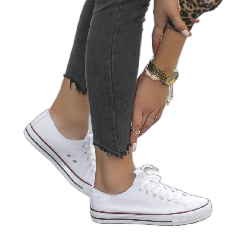 White classic women's TH68-1 sneakers