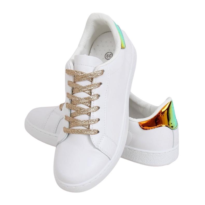 White 5G-2 Gold women's sneakers