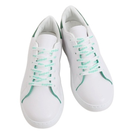 White 5G-2 Green women's sneakers