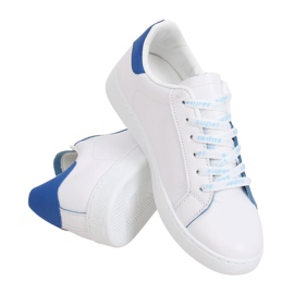 White 5G-2 Blue women's sneakers