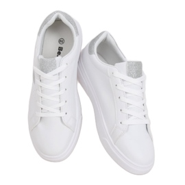 White women's sneakers C941 Silver