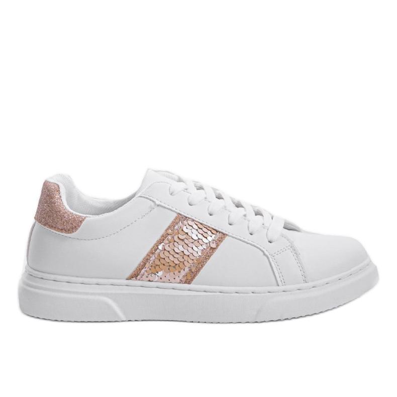 Classic white sneakers BK929-87 yellow