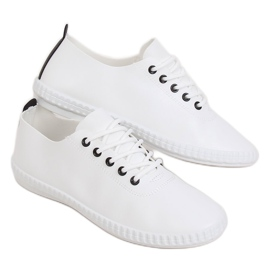 Women's black and white sneakers 6165 Black