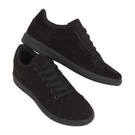 Black suede black women's sneakers 6301