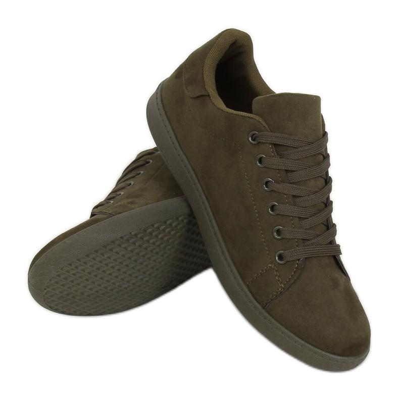 Green suede women's sneakers 6301 Green