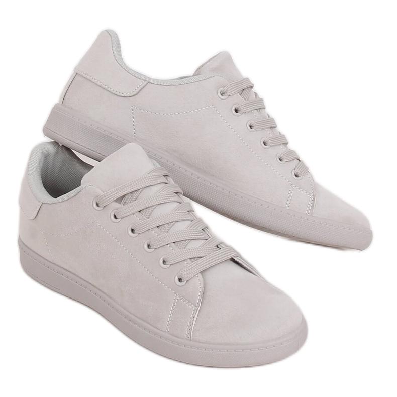 Gray suede gray women's sneakers 6301 grey