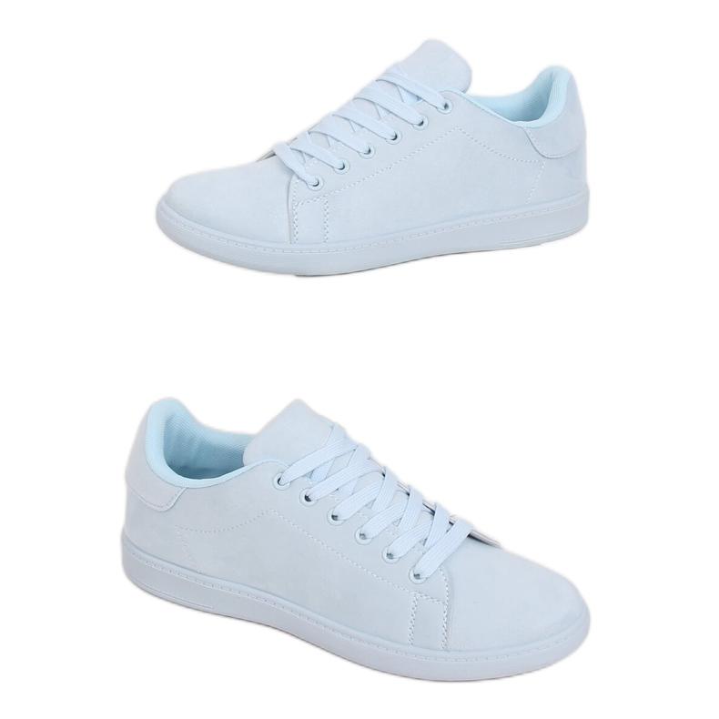 Women's blue suede sneakers 6301 L.BLUE