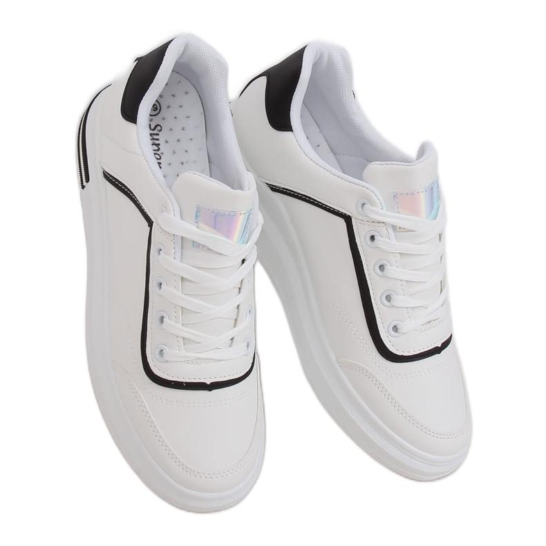 White women's sneakers 1239-Y Black