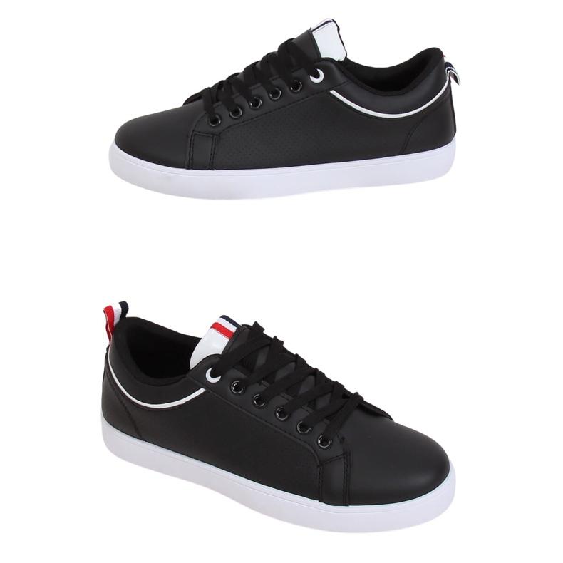 Black women's sneakers B0-501 Black