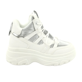 Evento High sports shoes 20BT26-3192 white silver