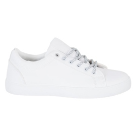 SHELOVET Sneakers With Decorative Laces white