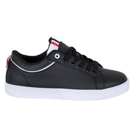 SHELOVET Stylish Sneakers With Eco Leather black