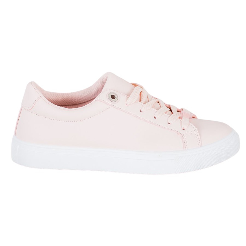 SHELOVET Sneakers With Eco Leather pink