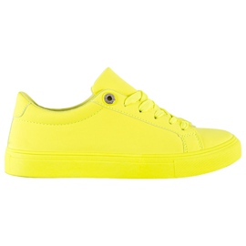 SHELOVET Sneakers With Eco Leather yellow