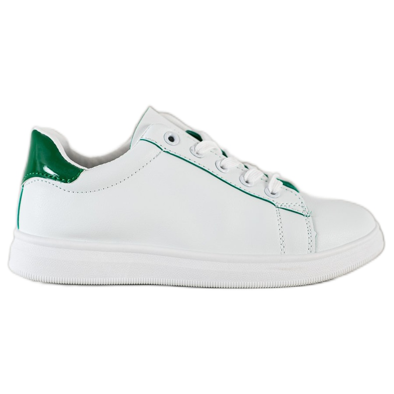 SHELOVET Classic Sport Shoes white green