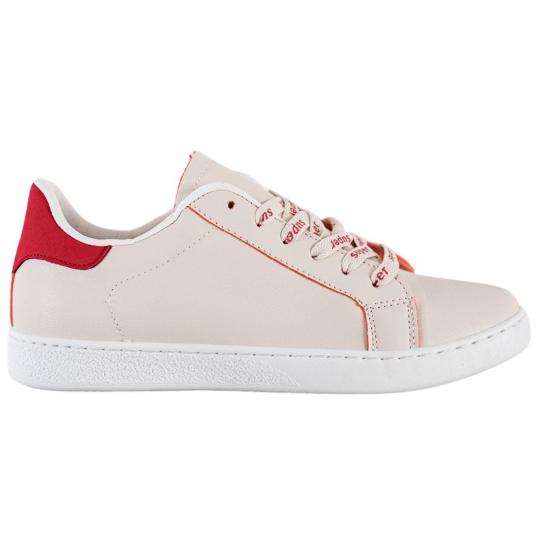 SHELOVET Fashionable Sports Shoes white red
