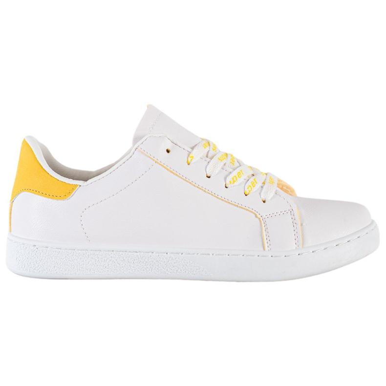 SHELOVET Fashionable Sports Shoes white yellow