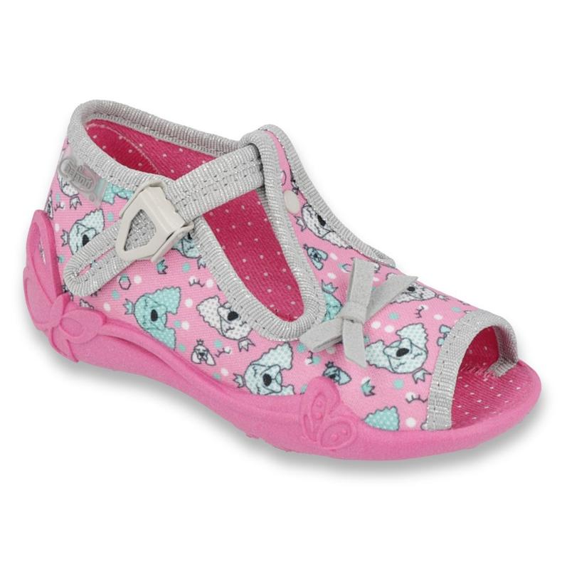 Befado children's shoes 213P120 pink grey