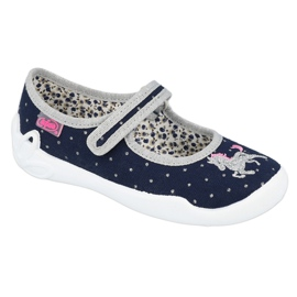Befado children's shoes 114X414 navy grey